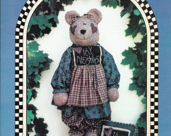 Luv Thy Neighbor 28' Bear, pin and pillow pattern by Inspired Creations