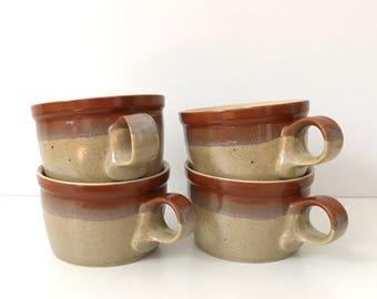 Mikasa Potters Art Set of Coffee Cups, Ben Seibel Design / Vintage Coffee Tea Cup Set / Made in Japan, Vintage Ceramics, Vintage Stoneware