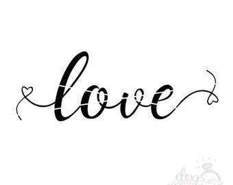 Love SVG | Valentine's Day Cut File | cute valentine's day svg files | svg file for Silhouette | svg file for Cricut | Valentine's Day