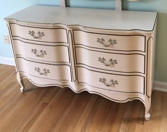 French Provincial 6 Drawer Dresser