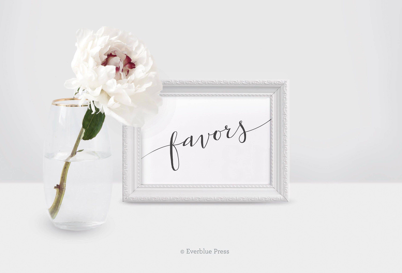 Favors Sign Printable | 4x6, 5x7, 8x10 PDF Landscape | Instant ...