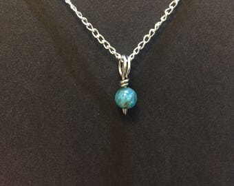 Tiny Apatite Charm Necklace