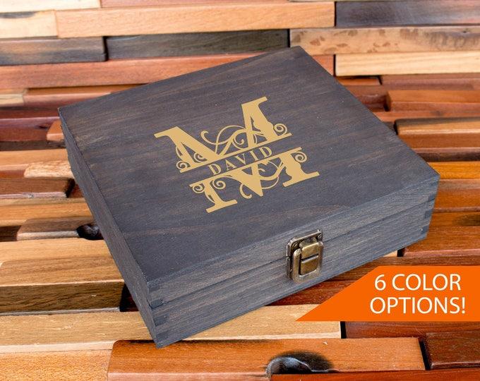 Cigar Box, Groomsmen Box, Best Man Gift Box, Personalized Wedding Gift Box, Groomsmen Cigar Box, Men's Box, Man Gift, Father's Day Gift