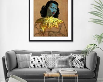 Chinese Girl by Tretchikoff Vintage Art Print