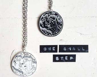Moon Necklace // Moon Jewellery // Space Necklace // Space Jewellery // Solar System Jewellery