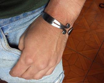 men's bracelet/forged iron/gift for him
