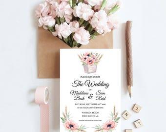 Spring Harvest Wedding Invitation