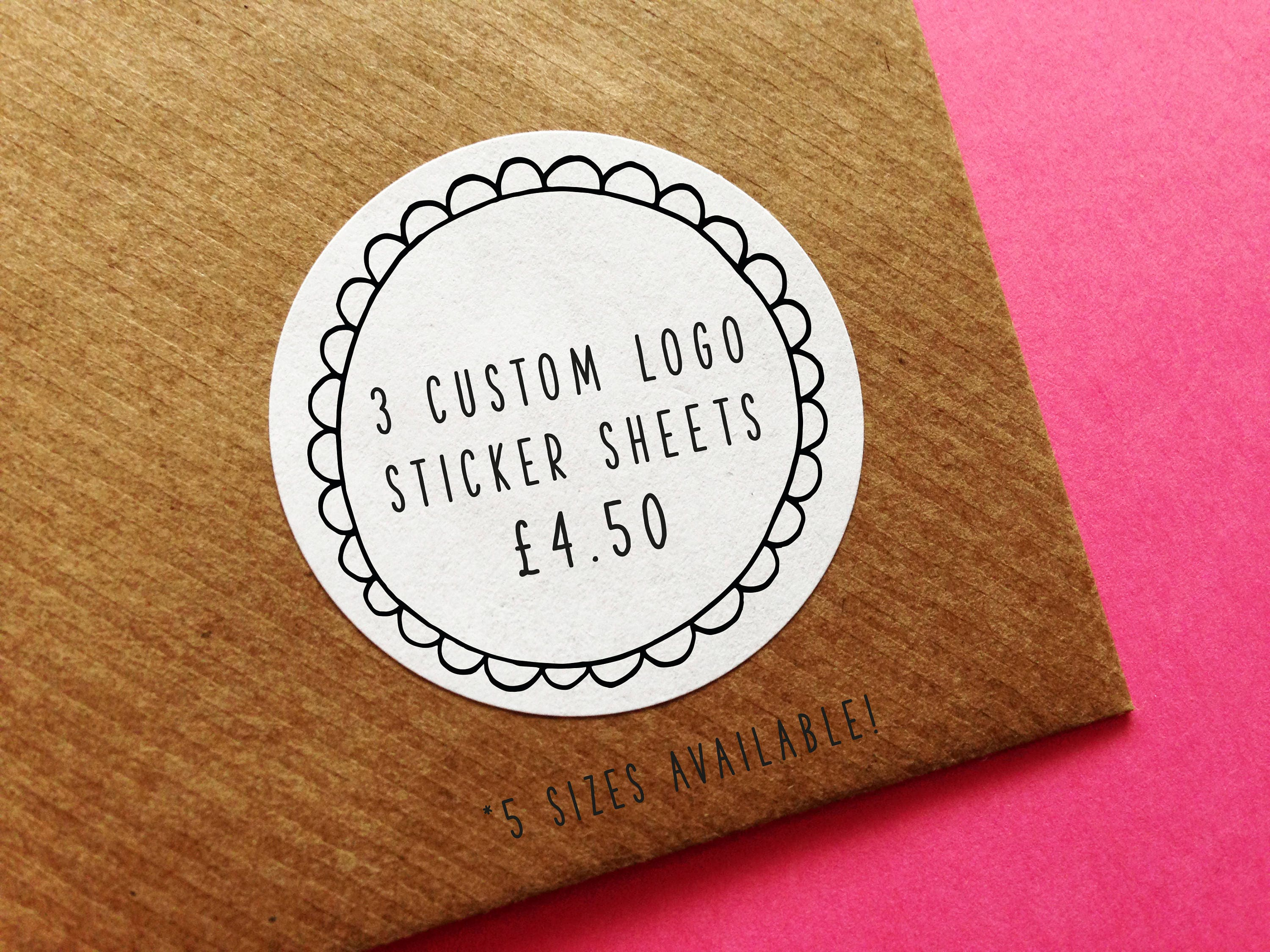 Custom Logo Sticker Sheets Personalised Stickers Custom - Custom business stickers