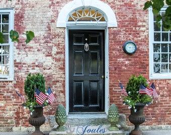 Wickford Doors ~ Brick ~ Wickford, Rhode Island, Historic Homes, New England, Home Decor, Wall Art, Photo, Art, Photograph, Artsy, Artwork