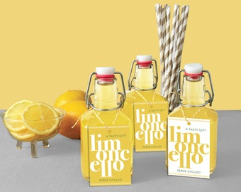 Limoncello Favor Tags Instant Download Printable