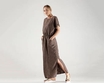 Long Linen Dress / Loose Fitting Maxi Dress / Loose Maxi Dress / Summer Loose Dress / Oversized Dress / Linen Clothing for Women