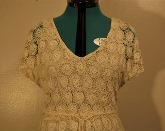 Willow & Clay Crochet Dress with drawstring waist
