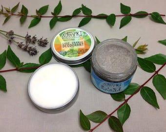 hygiene set \ sage orange deodorant & mint clove toothpaste \ organic toothpaste \ vegan deodorant \ natural toothpaste \ natural deodorant