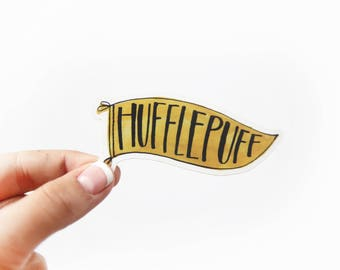 Hufflepuff Vinyl Sticker - Hogwarts House Vinyl Sticker - Hufflepuff Ravenclaw Gryffindor Slytherin - Harry Potter Themed Stickers