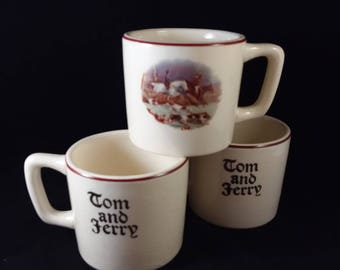 Tom & Jerry Hunting Scene Punch Mugs  Set of 3
