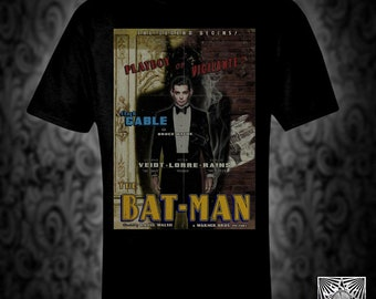 Batman vintage style T-shirt, retro film poster joker riddler penguin