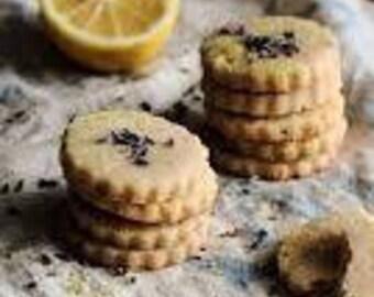 organic lavender lemon  shortbread cookies,lavender  butter cookies,  organic cookies, tea cookies