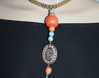 Summery baroque necklace - PHRYNE at the beach!