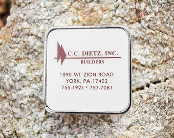 Vintage Tape Measure NOS advertising CC Dietz Inc Builders York Pa