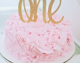 Gold cake topper Etsy