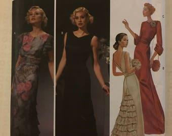 Simplicity 5876 - 75th Anniversary 1930s Retro Evening Dress with Cummerbund and Purse - Size 6 8 10 12