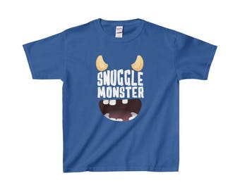 Youth Snuggle Monster T Shirt  Special Edition Multiple Colours Available  Limited Quantities