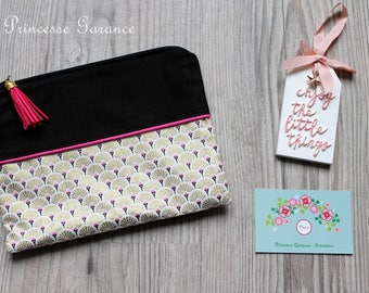 Birthday, moms * flat pocket, little mess, girl treasures, cotton, gold plated, fan black cotton, in stock