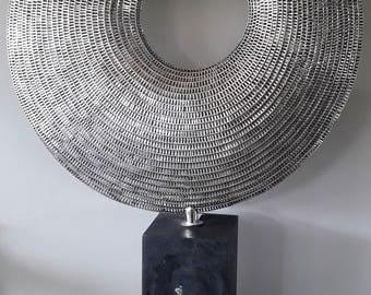 Fine Art Huge Stainless Steel Sculpture Bali Contempoary Interior Design statue