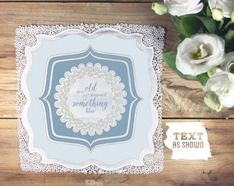 Something blue bridal wedding handkerchief, blue wedding handkerchief, something blue bride, blue bridal handkerchief, wedding handkerchief