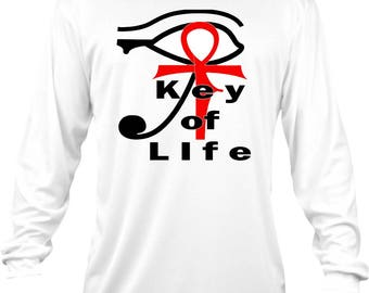Key of Life Long Sleeve Tee (Bella Brand)