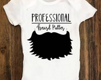Beard Puller Onesie, Baby Boy, Baby Girl, Customized Onesie, Baby Shower, Bodysuit