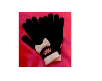 Little Girls Princess Winter Fashion Gloves