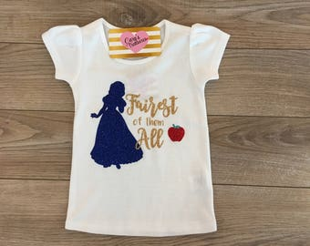 Fairest Of Them All Snow White Girls Shirt