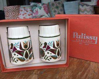 Vintage 70s Palissy salt and pepper shakers - Made in England