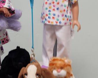 Dog Vet Costume for 18 inch dolls