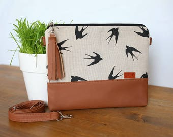 Swallow Crossbody purse Wanderlust Mother day Gift Birds Small Crossbody bag Vegan purse Vegan bag Birds womens gift Cross body bag