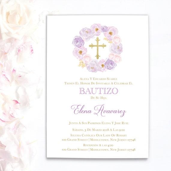 Invitaciones de bautizo invitaciones de bautizo nia spanish il570xn stopboris Gallery