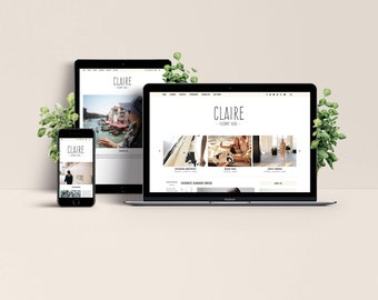 Claire WordPress Theme - Elegant & Responsive Template