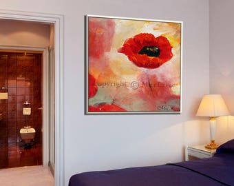 Abstract Canvas Art Print, Canvas Art, Flower Wall Art, Abstract Wall Art, Flower Art, Floral Wall Art, Flower Wall Decor, Floral Artwork