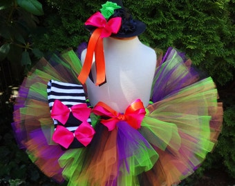 Witch Tutu, Halloween Tutu, Witch Outfit, Halloween Costume, Toddler Costume, Baby Costume, Witch Costume, Girls Costume, Witch Tutu Set