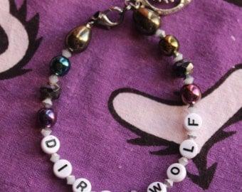 Dire Wolf Alphabet Bead Bracelet