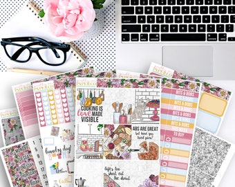 La Cucina No White-Space Weekly Kit - Planner Stickers