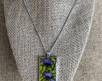 Marguerite batik necklace