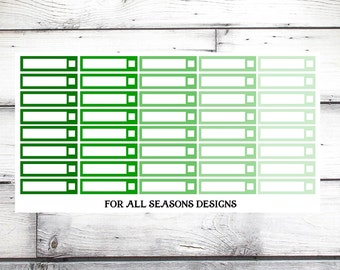 Green Labels for Planner, Check Box Tags, Erin Condren Planner