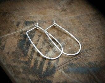 Hammered Silver Hoop Earrings, Hammered Hoops,Classic Teardrop Hoops, Hammered Earrings,Silver Hammered Hoop Earrings,Silver Classic Hoops,