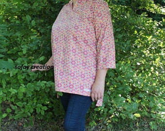 Orange blouse or tunic