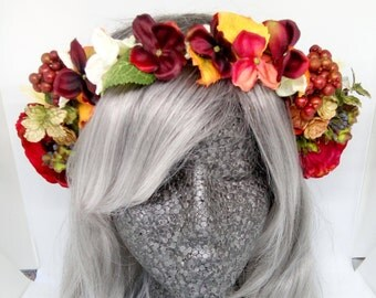 Autumn Full Flower Crown