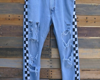 0474 - American Vintage - Street Styled - Checkered Pants