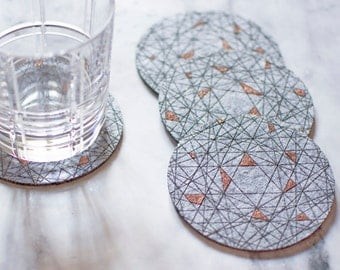 Dahab Coasters - Different Colors - set of 4