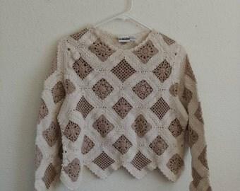 Vintage Boheme Crochet Sweater